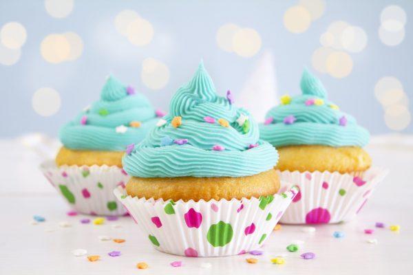 cupcakes de colores